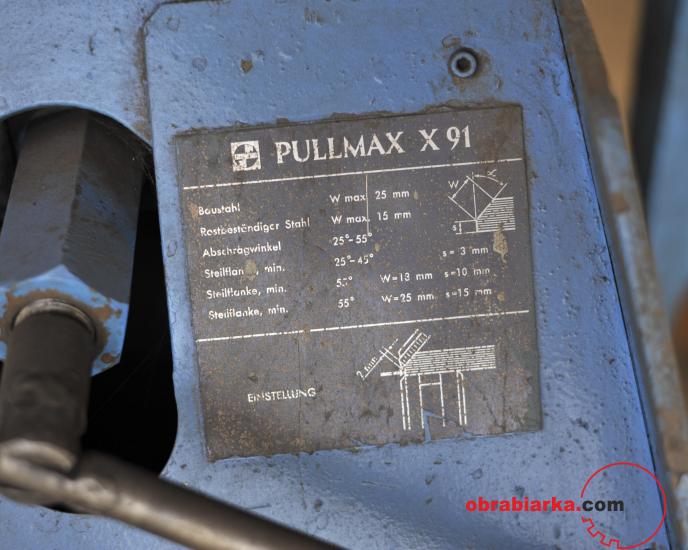 Ukosowarka fazowarka do blach PULLMAX X-91